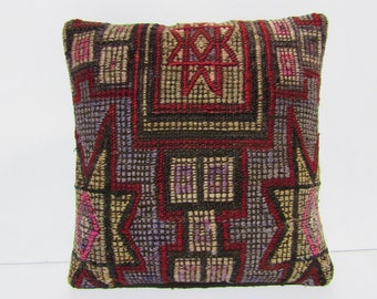 floral decorative pillow medallion throw pillow kilim pillow antique floral pillow interior decorator turkish cushion cover tapestry 30368