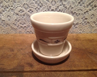 Small Longaberger Flower Pot Pottery