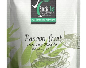8 oz. Passion Fruit Loose Black Tea with Free Tea Infuser