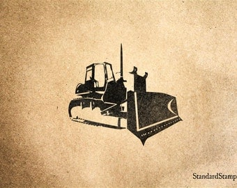 Earth Mover Rubber Stamp - 2 x 2 inches