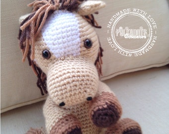 Horse Stuffed Animal Crochet Stuffy, Aromatherapy scented available