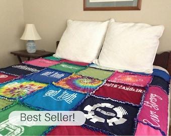 Custom Tshirt Quilt, START HERE, Tshirt Blanket, Memory Blanket, Rag Tshirt Quilt