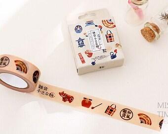 15mmX10M Japanese Travel Groceries Fun Washi Tape Diary Filofax Masking Tape