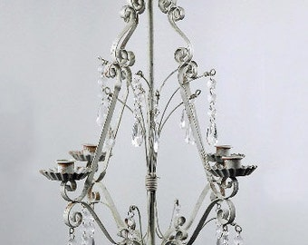 Candle Chandelier in Metal  Floral Chandelier  Simply Beautiful !