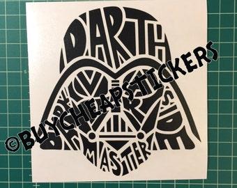 Star Wars Darth Vader Decal 6x6