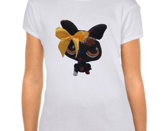 Girl's Custom Littlest Pet Shop Chihuahua Dog Fitted Babydoll T-Shirt