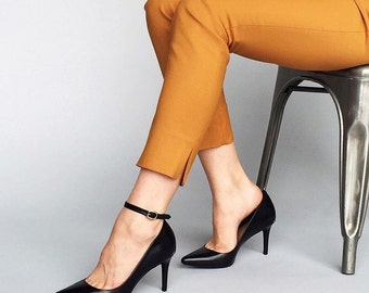 Attachable ankle strap - BLACK