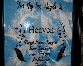 Angel baby Memorial for one or two babies