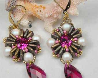 Anna Karenina earrings beading tutorial PDF instant download
