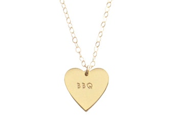 "My Heart Belongs To ""BBQ"" Necklace - 1066"