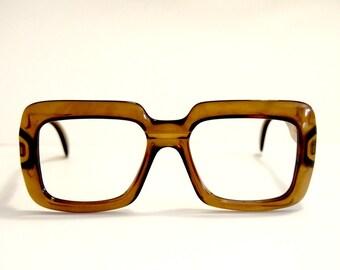 Vintage Eye glasses frames Saphira Optyl square Nerd Hipster Made in Germany.NOS