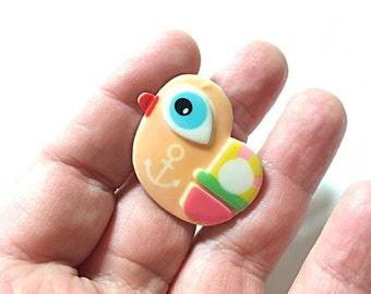 Peach bird ring