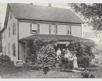 Summer Home, Sullivan County, NY Photo Postcard, 1910