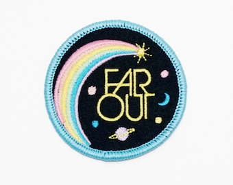 Far Out Iron On Patch