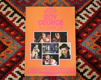 Vintage book // The Best of Boy George & Culture Club 23 Sensational Full Color Photographs
