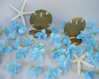 20 Breezy Blue Island Dendrobium Orchid Heads