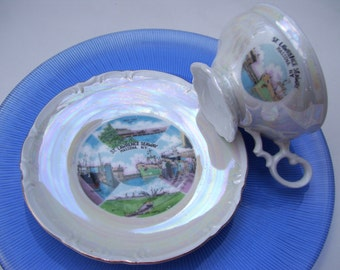 St. Lawrence Seaway Teacup and Saucer,History,New York,Eisenhower Lock Tunnel