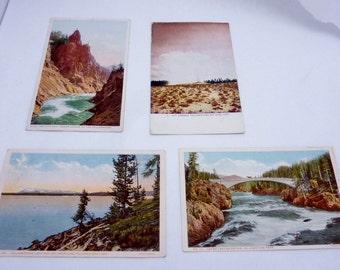 Vintage 1900s Haynes Detroit Postcard Bridge Hot Springs Yellowstone Park Lake 22461