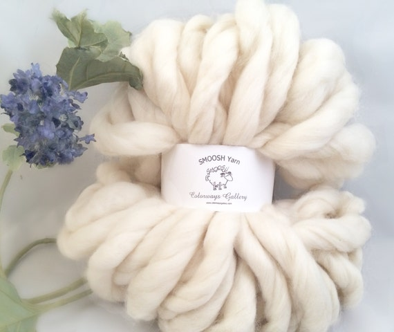 "Super Chunky Yarn, Giant Yarn, Super THICK Yarn, ""Smoosh Yarn"", Extreme Hand Spun yarn"