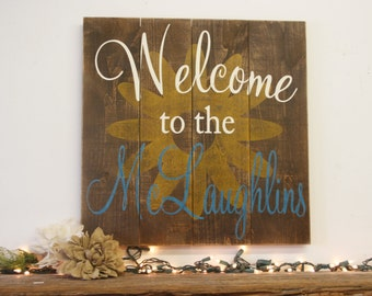 Welcome Sign Rustic Pallet Sign Sunflower Wall Art Country Wall Decor Wood Wall  Art Housewarming Gift