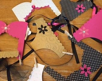 Lingerie Bachelorette Party Decoration, Lingerie Banner, Bridal Shower, Lingerie Party, Fun Colors!
