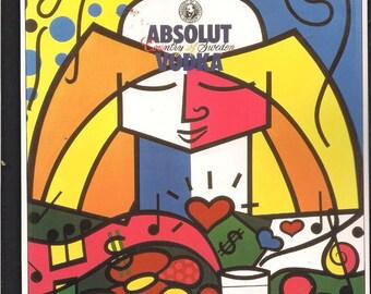 BRITTO Absolut V  1 only Framed framed  by artist value over 100