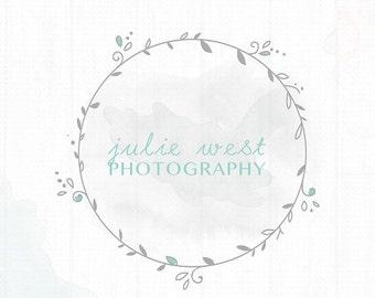On SALE Premade Photography Wreath Watermark + Logo