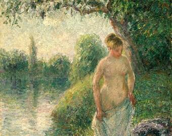 "Camille Pissarro : ""The Bather"" (1895) - Giclee Fine Art Print"