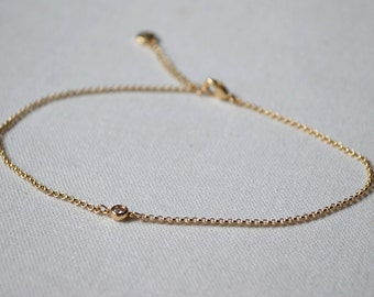 Anklet small crystal