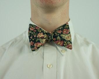 Vintage Floral Bow Tie