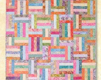 Atkinson Design Popsicle Sticks Jelly Roll or  Fat Quarter Friendly Batik Quilt Pattern