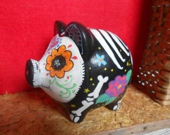 Piggy Bank Skull Day of the Dead