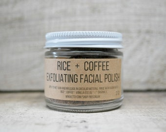 Rice  + Coffee Exfoliating Facial Polish    2 oz   ORGANIC