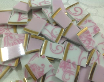 China mosaic Tiles~~Cottage Charm Parisan Pinks~~Set # 1