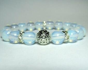 Opalite Bracelet, Beaded Bracelet, Womens Bracelet, Gemstone Bracelet,  Stretch Bracelet, Handmade Bracelet