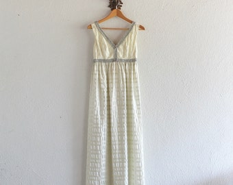 1960s  Vintage Grecian Goddess Dress/ 1960s Vintage Dress / 60s Lorrie Deb San Francisco Dress