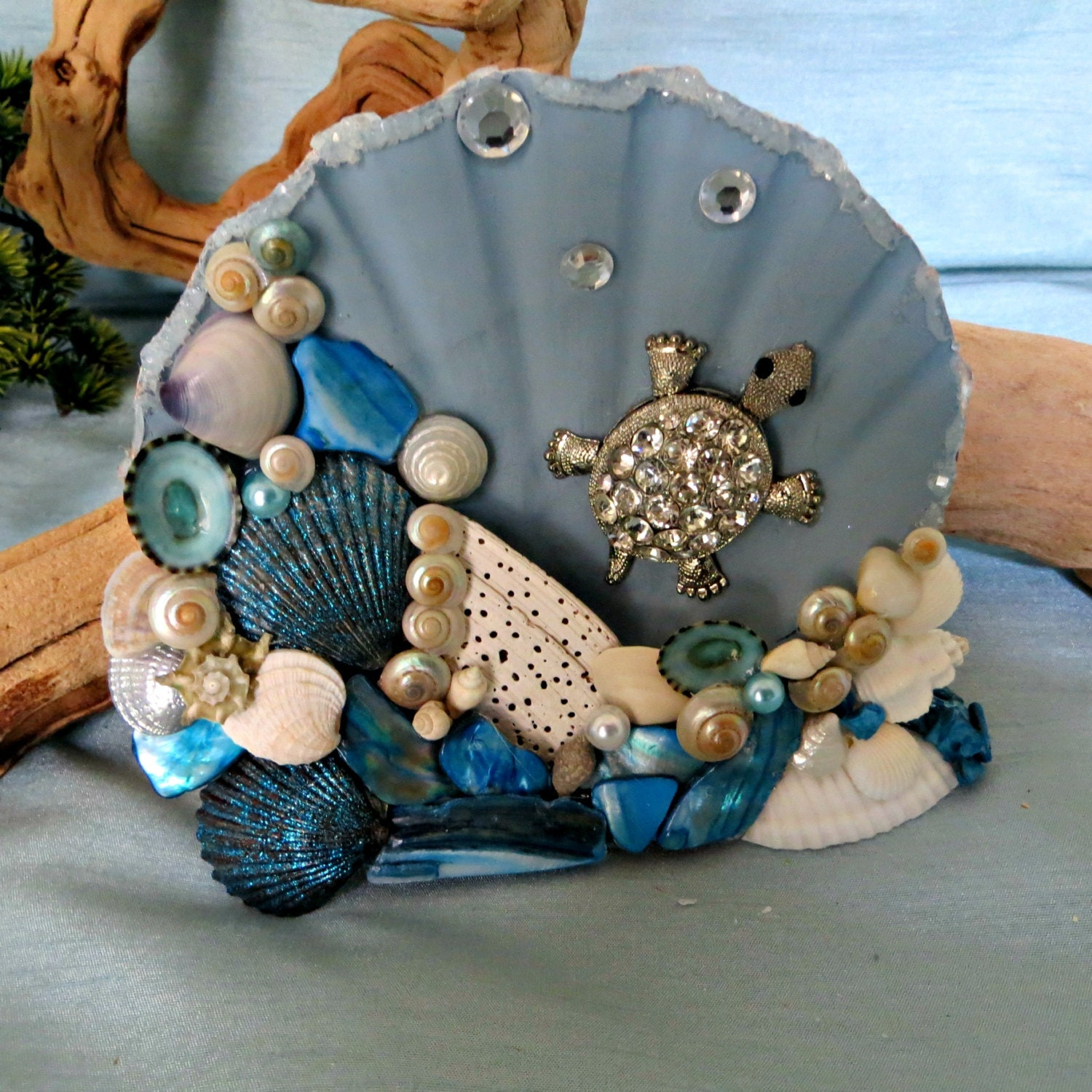 Sea Turtle Seashell Table Top Decor Beach Home Decor