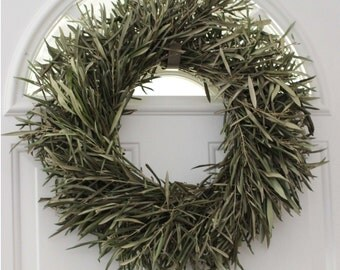 """Olive Branch Wreath - 20"""" Dried Easter"""