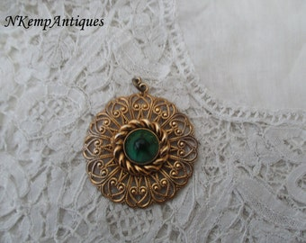 Filigree glass pendant 1950's