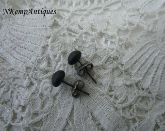 Antique french earrings real silver