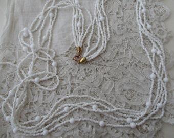 Vintage bead necklace 1950's