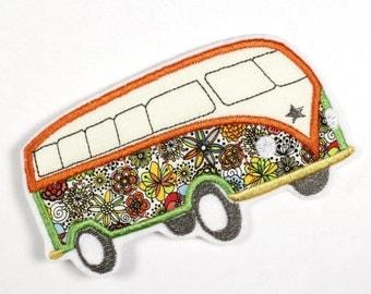iron-on applique iron-on patches applique patch badge car vehicle bus van 8 x 14cm / size inch 3.15 x 5.51
