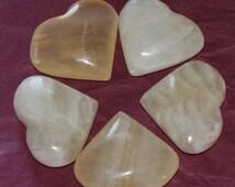 Aragonite-Golden Calcite Hearts