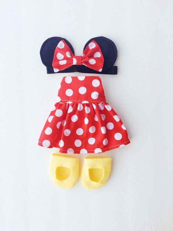 Items Similar To Minnie Mouse Outfit Dress Up Doll