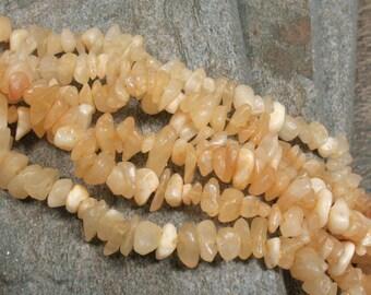 Aragonite Chip Beads - 35 inch strand - Item B0692