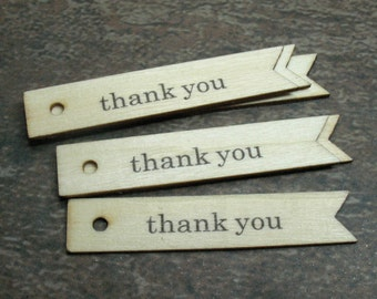 12 Wood Thank You Tags - Item 72564