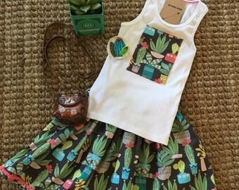 The Pokey Cactus skirt and tank top set.