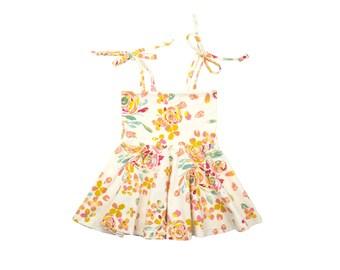 Circle Skirt Dress, Girls Dress, Baby Dress, Toddler Dress, Beach Dress, Summer Dress, Skater Dress, Twirling Dress, Watercolor Floral Dress