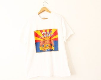 XLARGE (Tight) Vintage 1987 Arizona 75th Anniversary The Grand Canyon State 1912-1987 Graphic T-Shirt