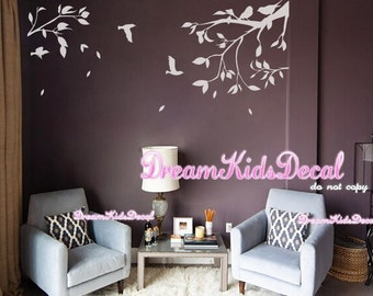 Wall Decal Tree wall decal -Living room wall decals-Tree branch wall stickers-Wall graphics- DK195